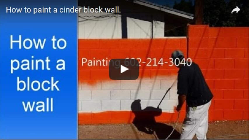 painting concrete block walls in phoenix az. Black Bedroom Furniture Sets. Home Design Ideas