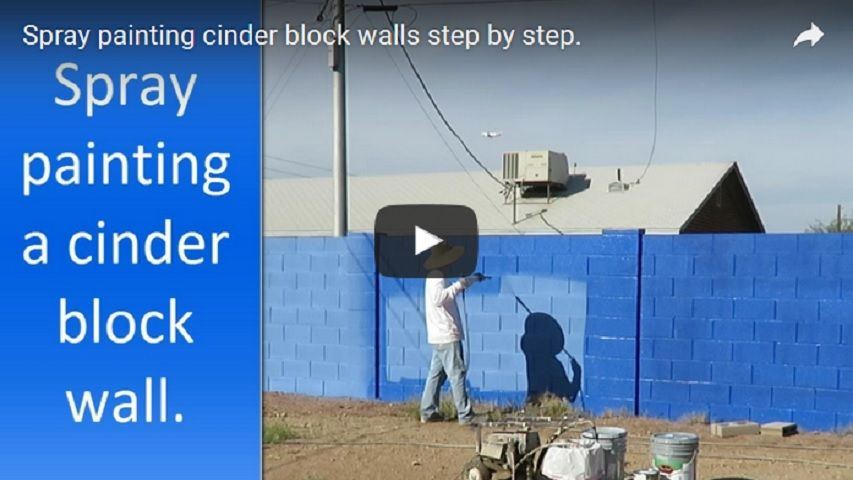 Cinder block wall painting step by step