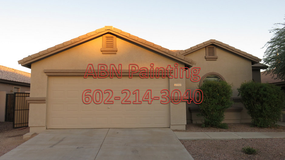 Painting 1500sf Stucco House In South Phoenix