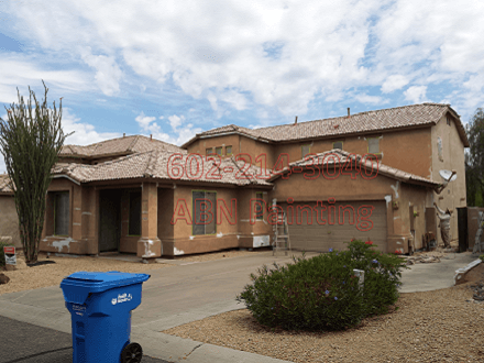Exterior painting Phoenix. Before image.