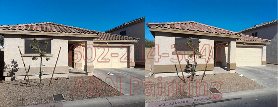 Exterior painting in Phoenix before and after 10