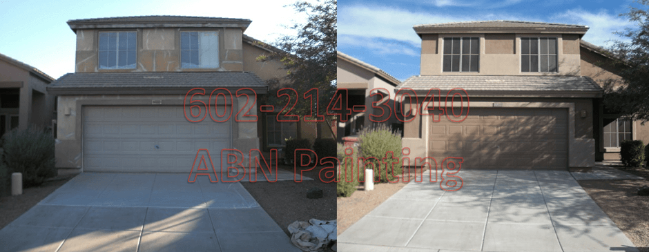 Exterior painting in Phoenix before and after 11