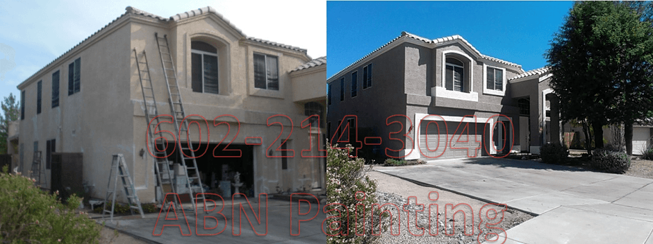 Exterior painting in Phoenix before and after 12