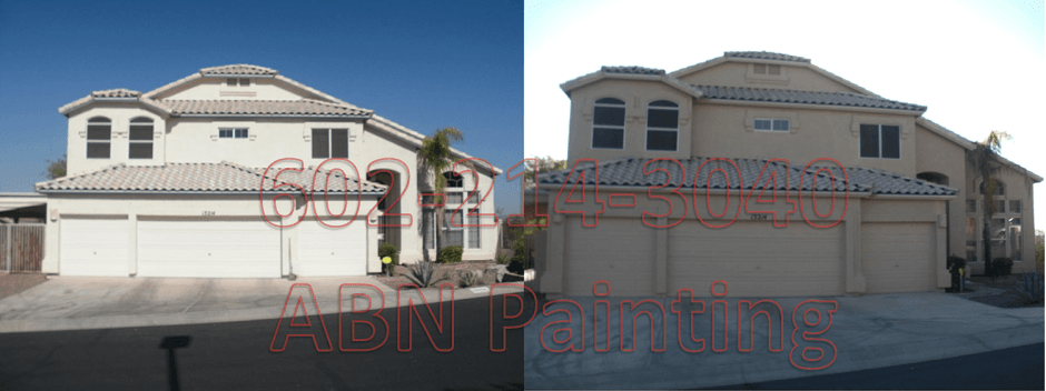 Exterior painting in Phoenix before and after 13