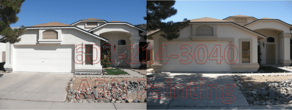 Exterior painting in Phoenix before and after 14