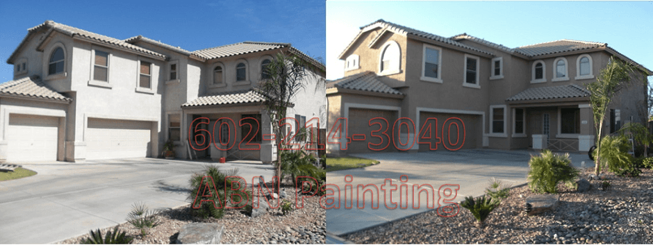 Exterior painting in Phoenix before and after 15