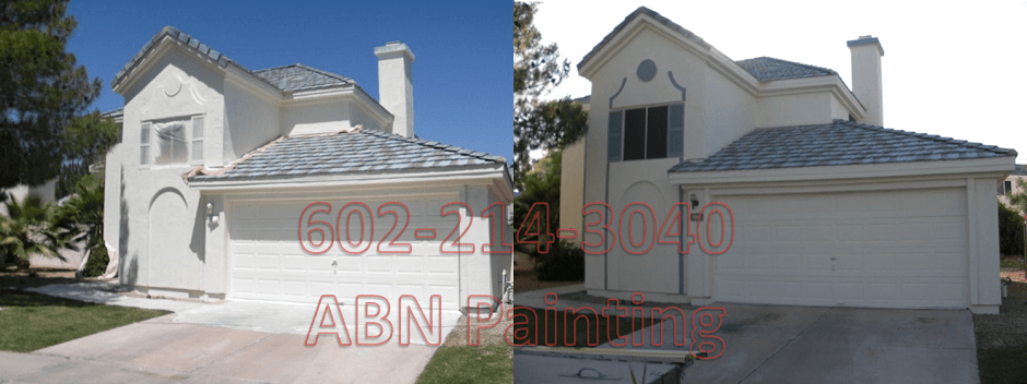 Exterior painting in Phoenix before and after 16