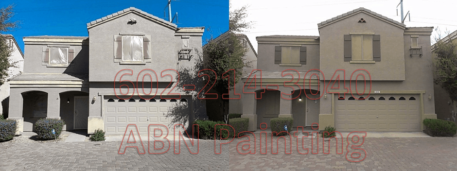 Exterior painting in Phoenix before and after 17