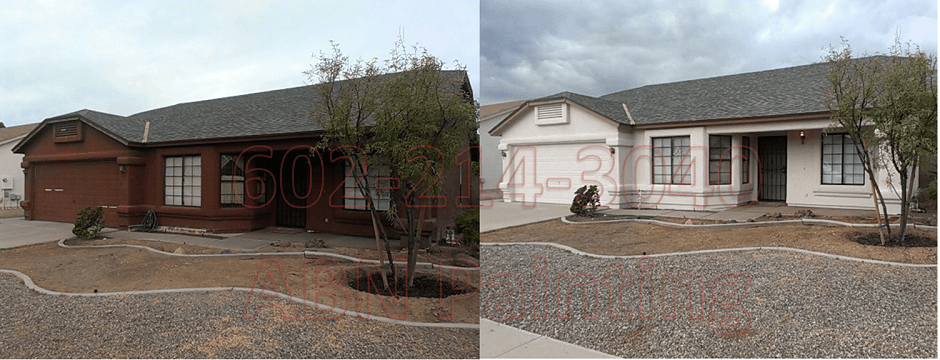 Exterior painting in Phoenix before and after 18