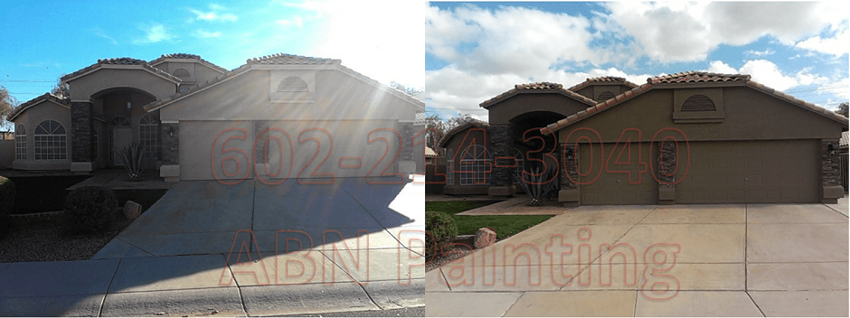 Exterior painting in Phoenix before and after 19