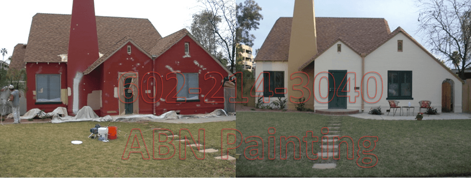 Exterior painting in Phoenix before and after 3