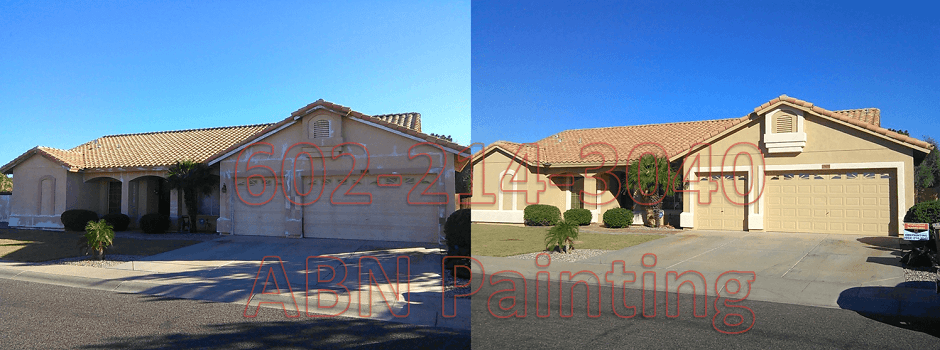Exterior painting in Phoenix before and after 4