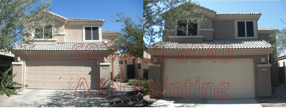 Exterior painting in Phoenix before and after 5