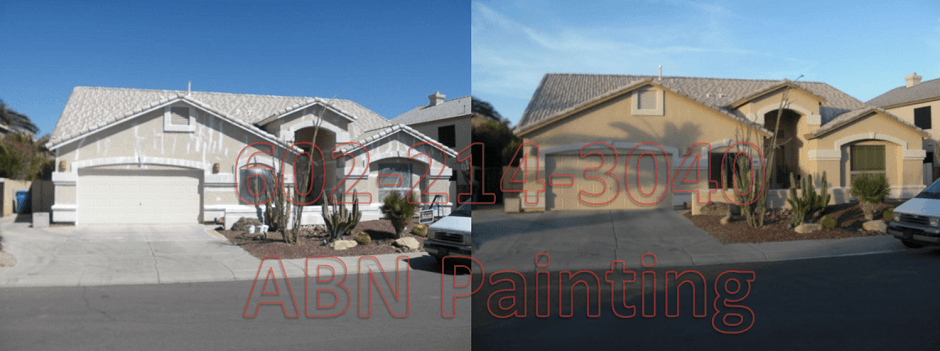 Exterior painting in Phoenix before and after 6