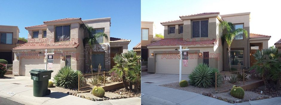 Exterior painting in Phoenix before and after 62