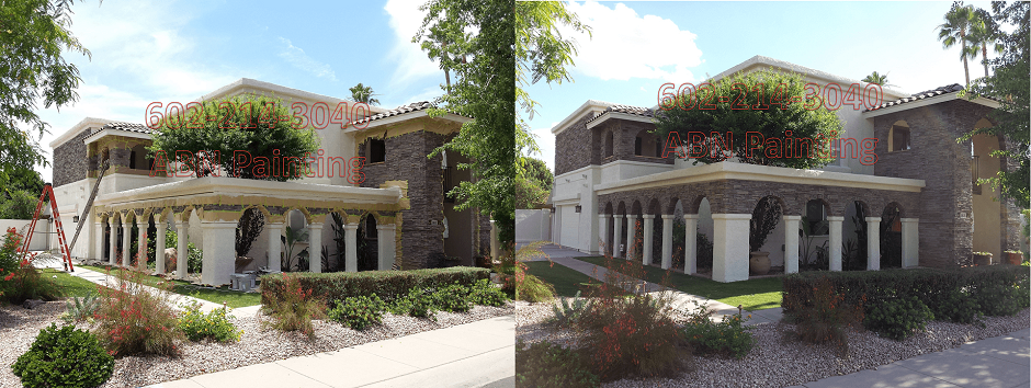Exterior painting in Phoenix before and after 64