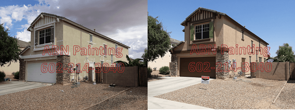 Exterior painting in Phoenix before and after 65