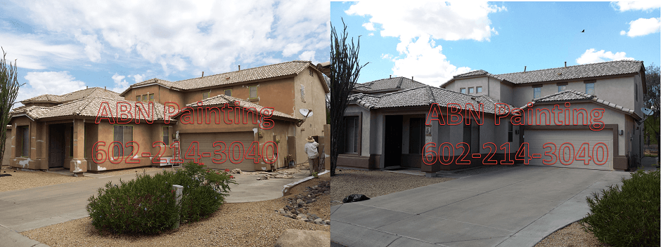 Exterior painting in Phoenix before and after 66