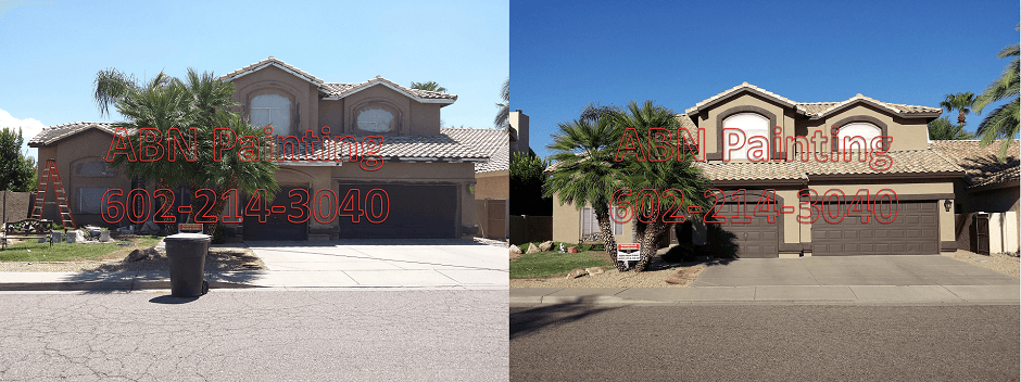 Exterior painting in Phoenix before and after 68