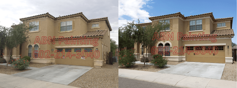 Exterior painting in Phoenix before and after 69