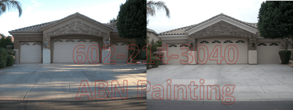 Exterior painting in Phoenix before and after 7