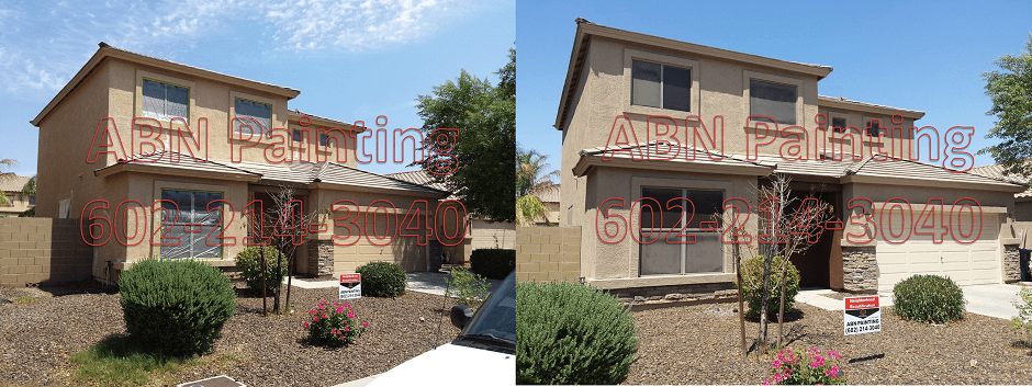Exterior painting in Phoenix before and after 70