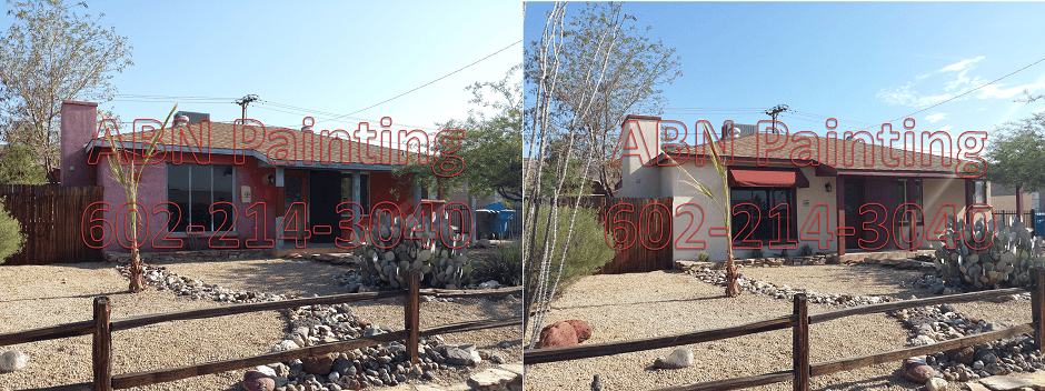 Exterior painting in Phoenix before and after 71