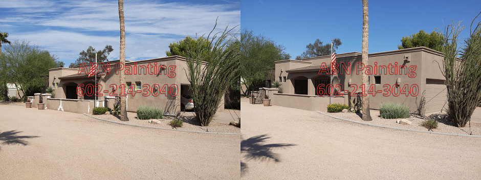 Exterior painting in Phoenix before and after 72