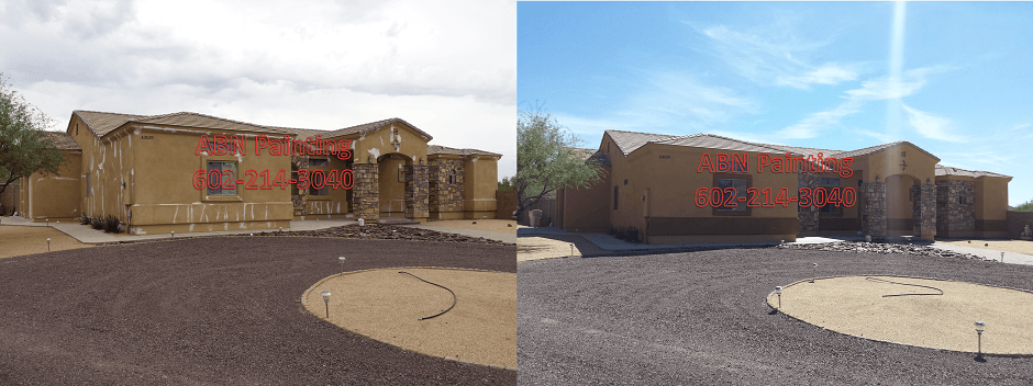 Exterior painting in Phoenix before and after 73