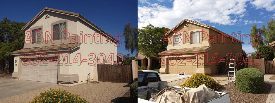 Exterior painting in Phoenix before and after 74