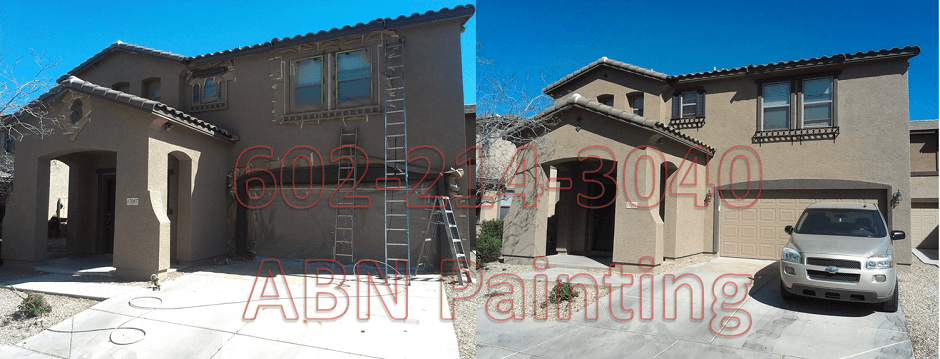 Exterior painting in Phoenix before and after 8