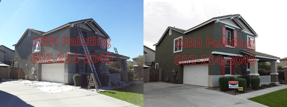 Exterior painting in Phoenix before and after 97