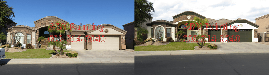 Exterior painting in Phoenix before and after 98