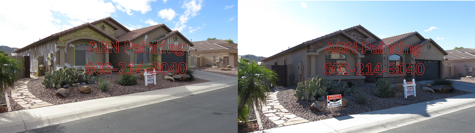 Exterior painting in Phoenix before and after 99