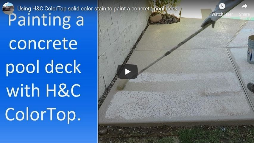 Repair and painting a concrete pool deck
