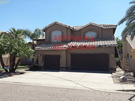 Exterior painting in Scottsdale, before image