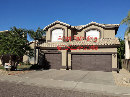 Exterior painting in Scottsdale, after image