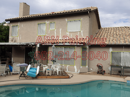 Exterior painting in Scottsdale. Before picture