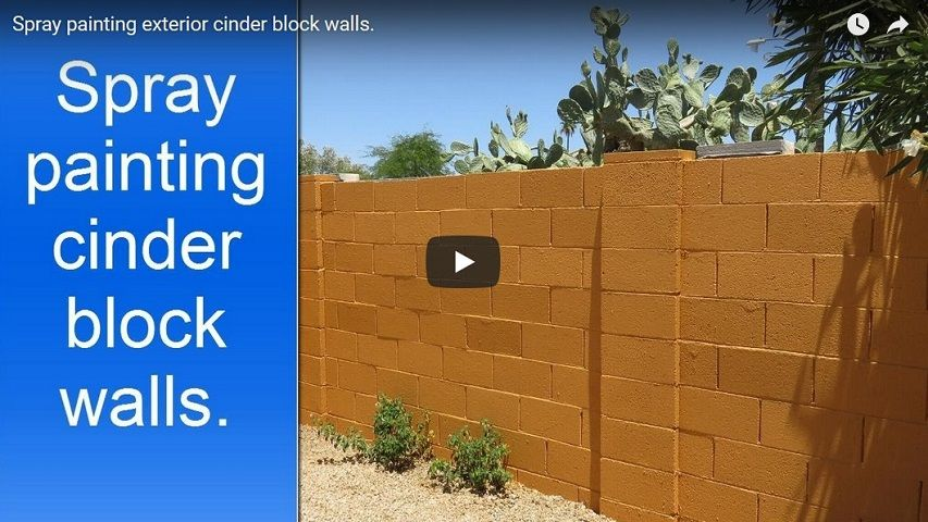 Block Wall Spray Painting